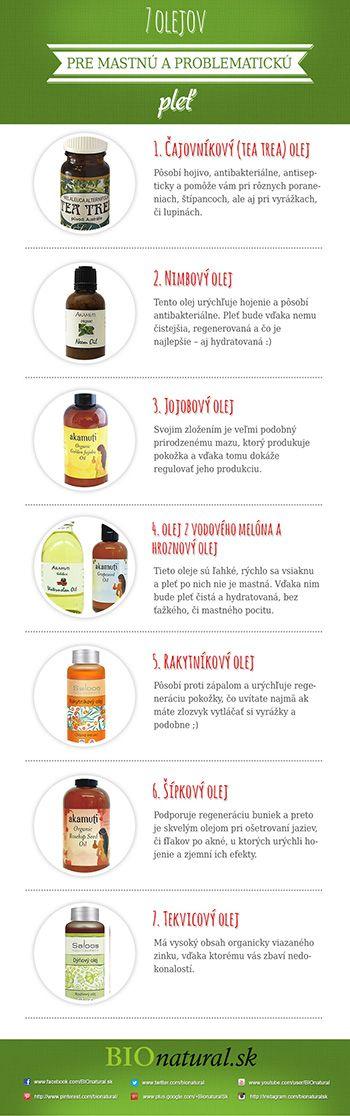 7 olejov pre mastnú a problematickú pleť