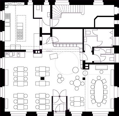 17 best ideas about restaurant plan on pinterest cafeteria design open space office and. Black Bedroom Furniture Sets. Home Design Ideas