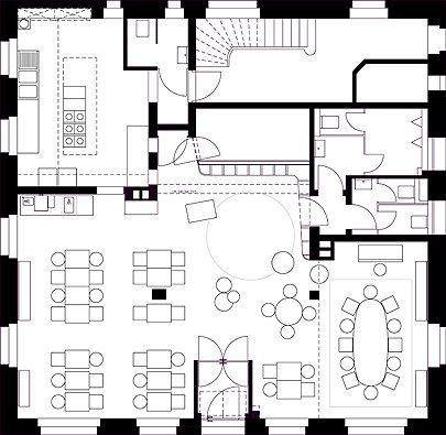 17 best ideas about restaurant plan on pinterest for Restaurant floor plan layout