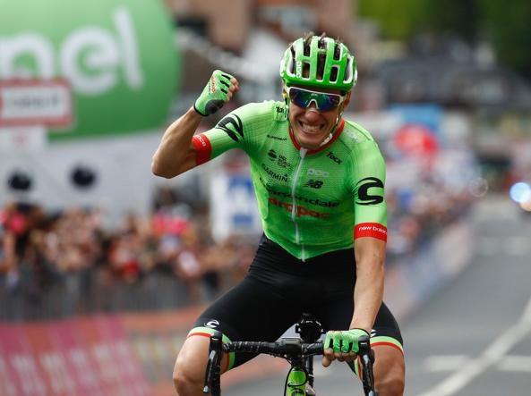 Pierre Rolland vince la 17° tappa Tirano - Canazei di km 219