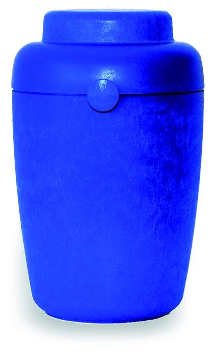 Urna funeraria para cenizas Serie Azrael Modelo Tellus Blue. 100% biodegradables.