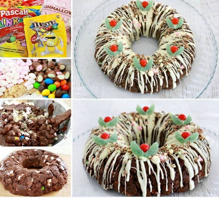 Clinkers Rocky Road Christmas Wreath