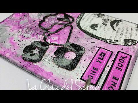 Grunge book cover. Mixmedia.