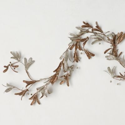 Terrain Copper Olive Leaf Garland $38 #shopterrain