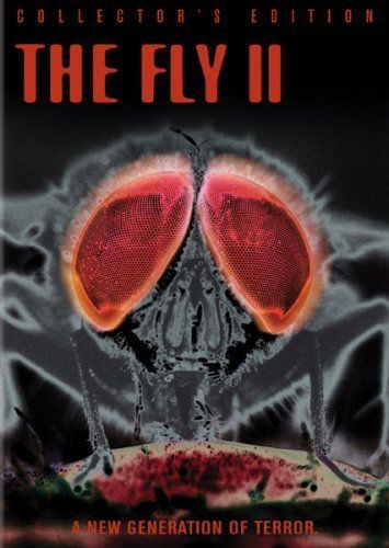 """THE FLY 2: Directed by Chris Walas.  With Eric Stoltz, Daphne Zuniga, Lee Richardson, John Getz. The almost human son of """"The Fly"""" searches for a cure to his mutated genes while being monitored by a nefarious corporation that wish to continue his father's experiments."""