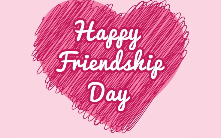 Happy Friendship Day Pink Heart HD Images