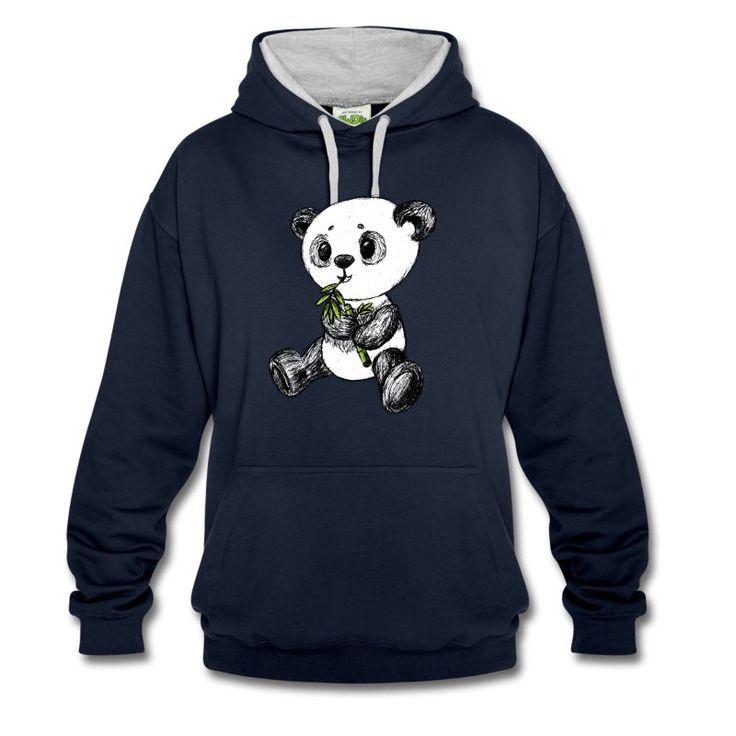 Kleiner süßer Panda, sitzend beim Bambus essen. Mmmmmmmmhhh :P Das Motiv gibt es auch in schwarz und in weiß.