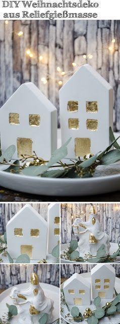 DIY Weihnachtsdeko aus Reliefgießmasse und eine Ankündigung (Mayodans Home, Ga…
