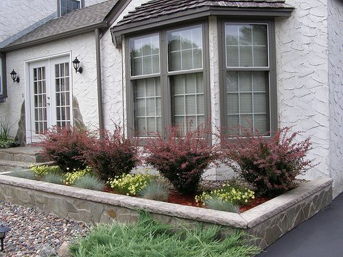 Bay Window Garden Ideas front yard landscaping we did it ourselves Landscaping In Front Of The Bay Window
