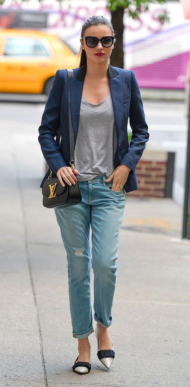 bw10 Celebrity Style Padded Shoulder Jersey Loose-fit ...