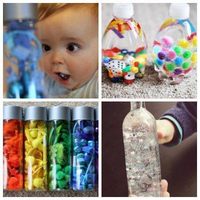 Des bouteilles sensorielles à réaliser pour bébé