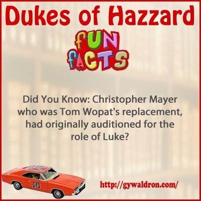 Did You Know: Christopher Mayer who was Tom Wopat's replacement, had originally auditioned for the role of Luke? #DukesofHazzard