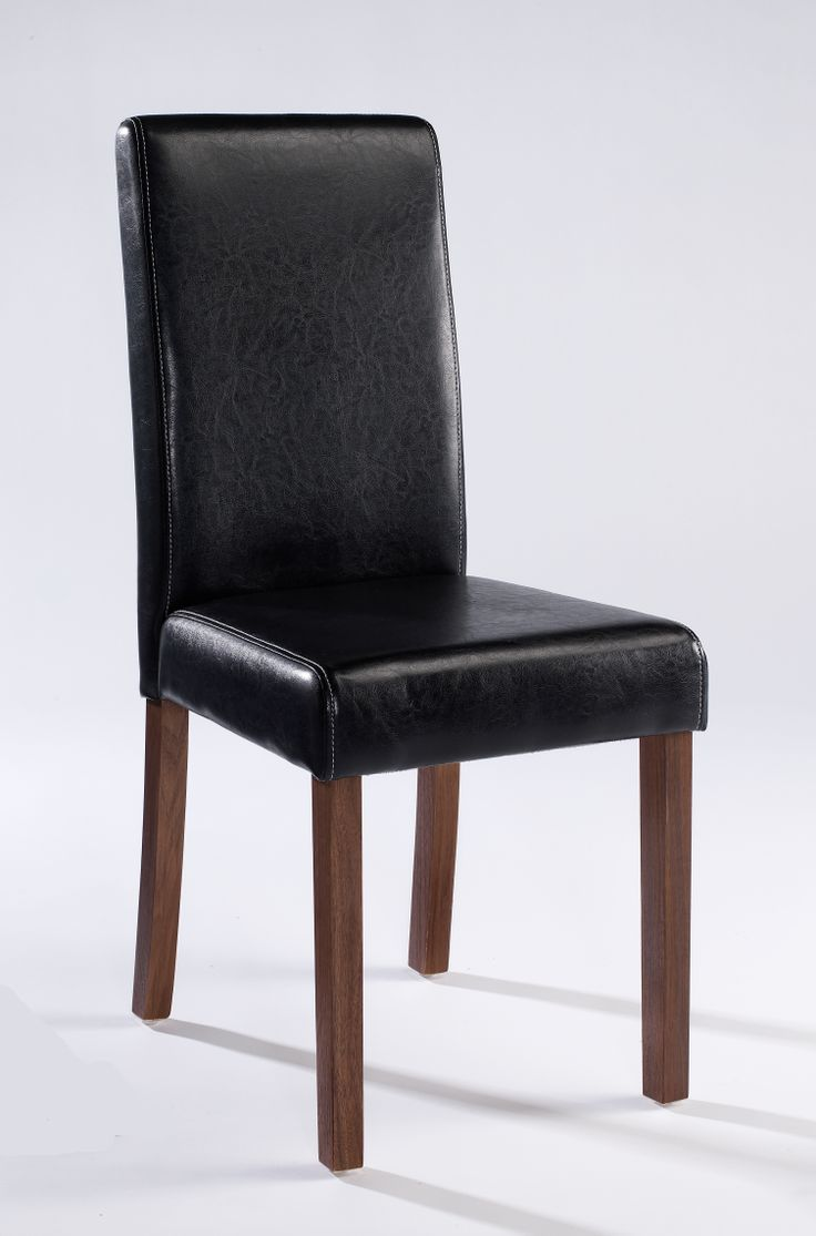 Brompton Dining Chairs  Sleek and simple contrasting faux leather chairs with Walnut coloured legs that come ready to assemble in boxes of 2. Available in Black; Brown; Red; Cream Dimensions: W415mm x D570mm x H960mm