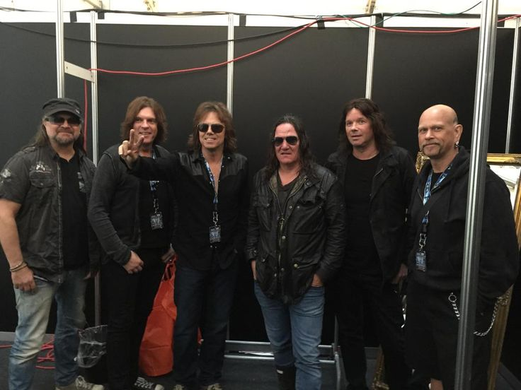 Another one from yesterday. @europetheband with #Wacken promoter Thomas Jensen right before the press conference.