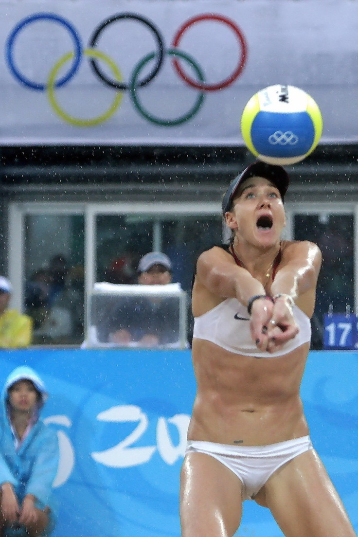 At the Olympics...pregnant...wins another gold medal. Stud  Kerri Walsh-Jennings: Pregnant with Third Child!