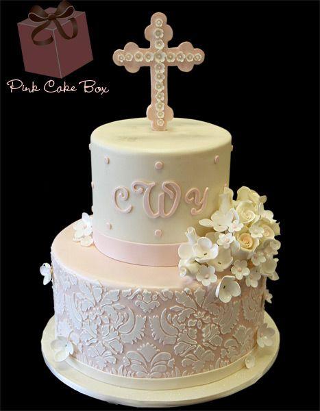 christening cakes for girls | Christening & Baptism Cakes » Pink Cake Box Custom Cakes & more