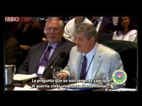 """""""Tenemos una Fuerza Militar en el espacio"""" (Mike Gravel) Audiencia Ciudadana Extraterrestre 2013 - YouTube"""