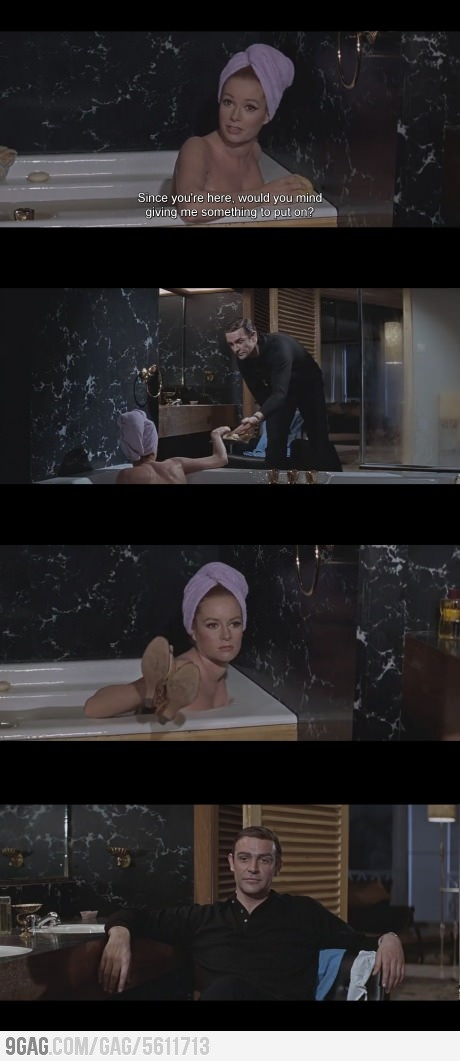 James bond bathtub scene