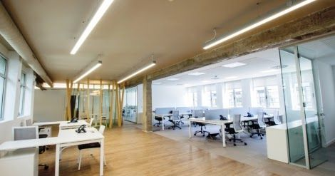 Combinando #diseño e #iluminación en la oficina de Cadena Ser Radio Bilbao