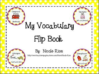Vocabulary Building Freebie - perfect for building vocabulary fluency in the 4th grade classroom!