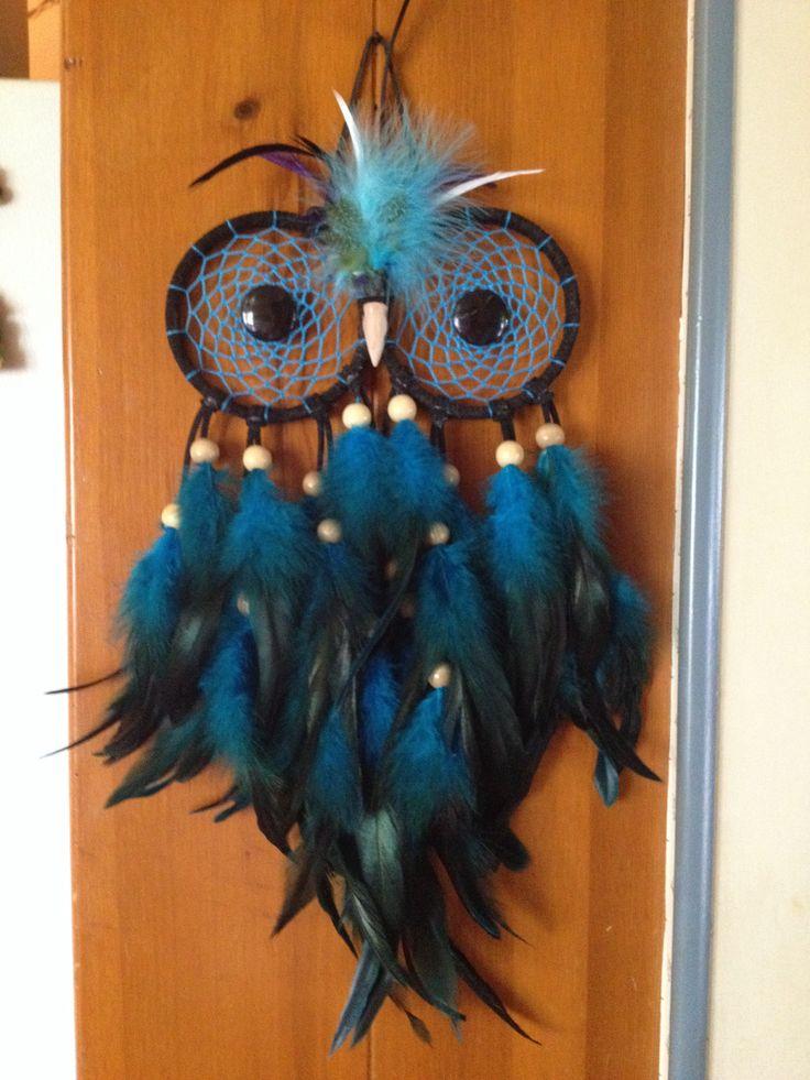 Owl dream catcher para casa for How do u make a dreamcatcher