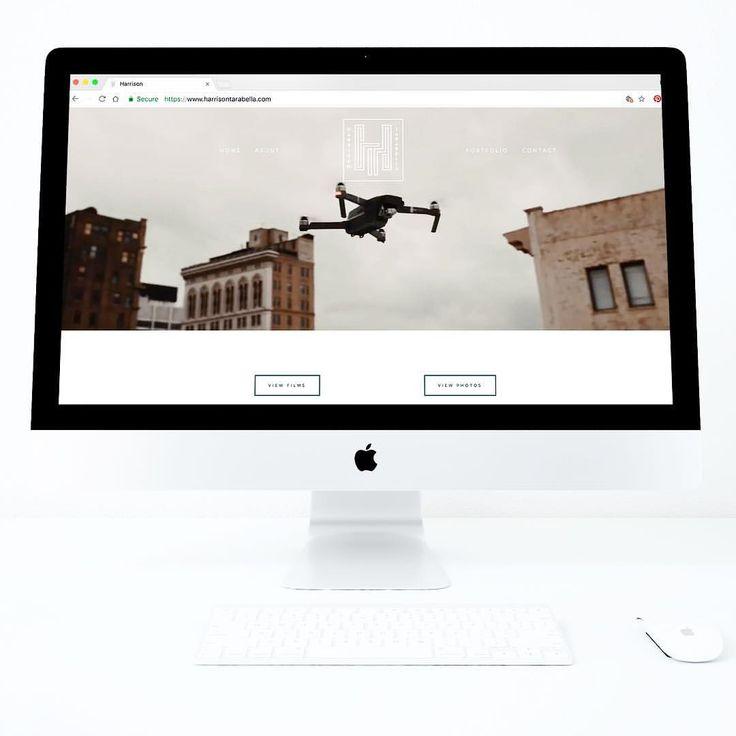 Website design for videographer, Harrison Tarrabella (@designedbyeden) on Instagram