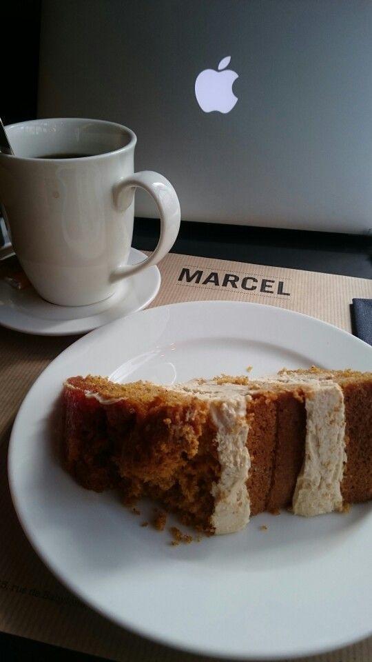 Carrot cake by Marcel, la pause café en bien mieux  22 rue Montmartre 75001 Paris