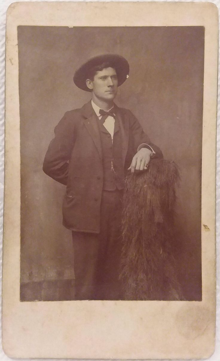 Morgan Earp Cabinet Card. Original image from the collection of P. W. Butler.