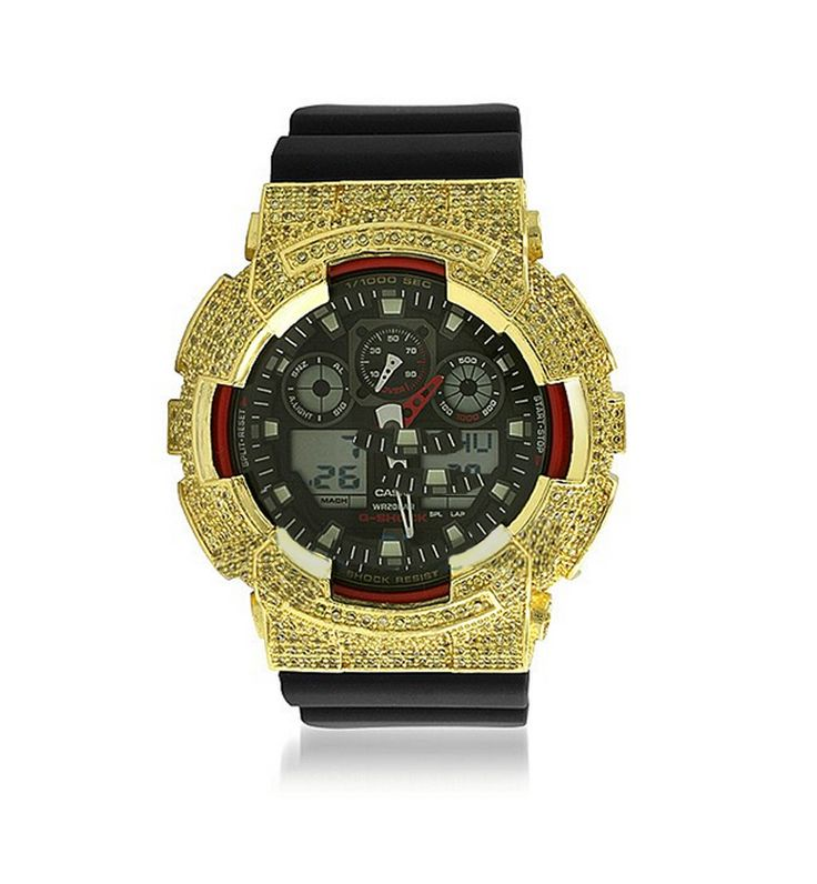 Lemonade CZ Custom Casio G Shock Watch GA100 by Hip Hop Bling. This custom watch looks so high end that no one will know that you get it with a super great price. Perfect watch for you who love a sporty watch. http://www.zocko.com/z/JJXB8