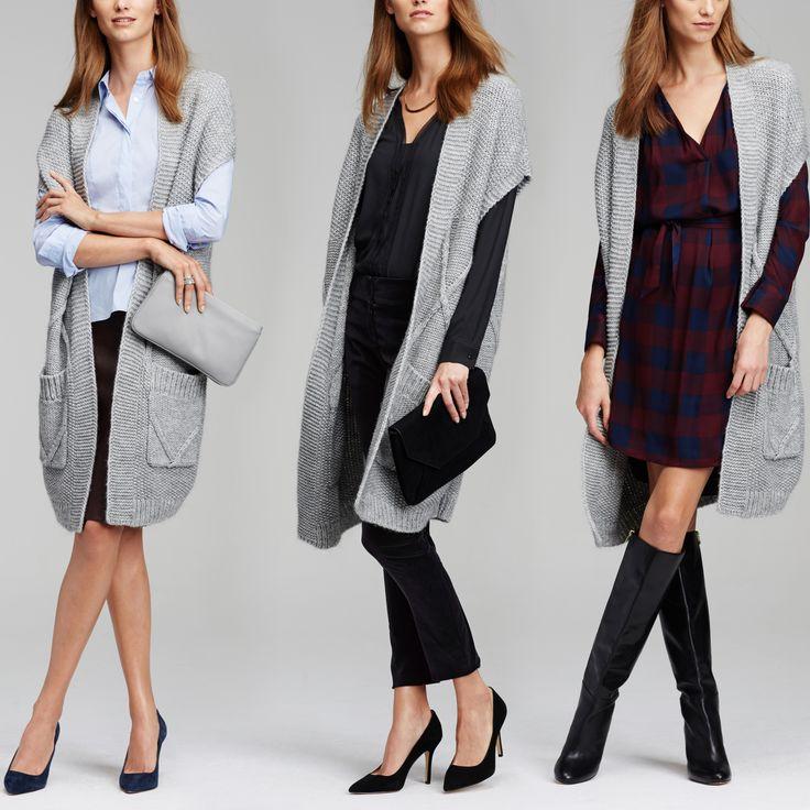 Knitting Pattern Long Sleeveless Cardigan : 17 Best ideas about Sleeveless Cardigan on Pinterest ...