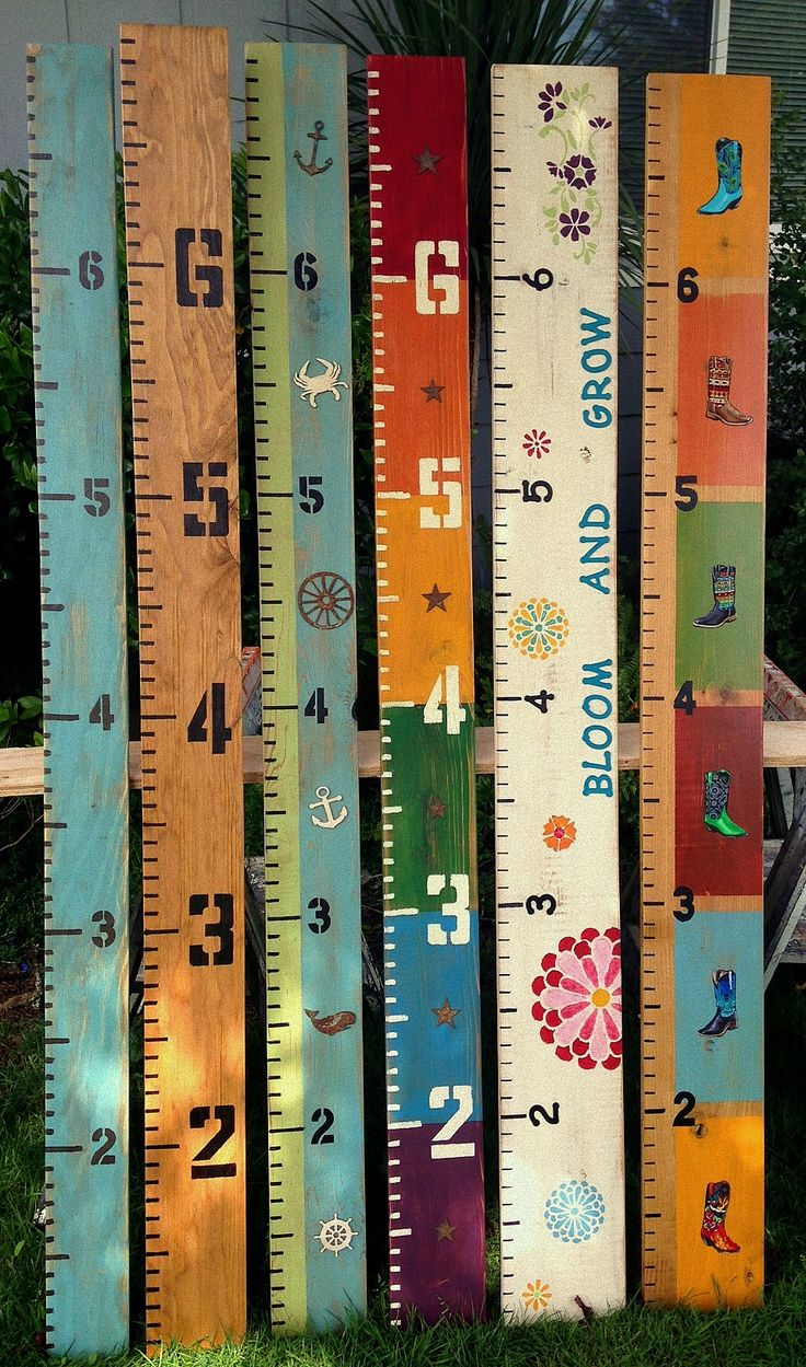 wooden growth charts in all kindsa styles and fun