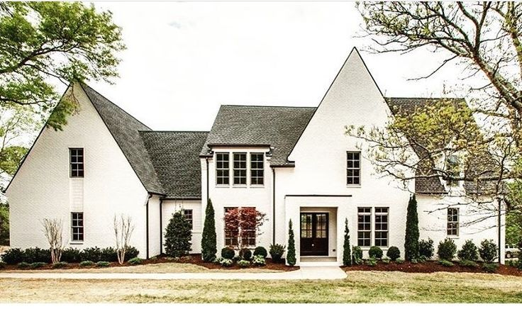 French country love the simple bushes new home ideas for Modern french country house plans