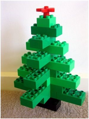 Christmas Tree with LEGO Blocks