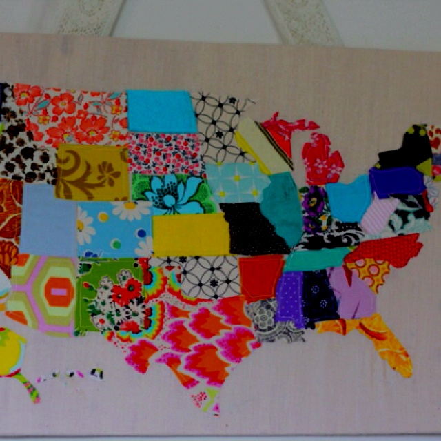 United States Map Of Made Of Fabric Http Seekatesew Blogspot Com