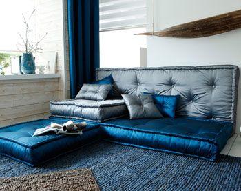 coussins matelas capitonn s taffetas becquet d co boh me pinterest articles. Black Bedroom Furniture Sets. Home Design Ideas