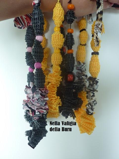Handmade necklace collana fatta a mano con tappetini - Tappetini da cucina ...