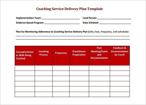 Delivery Schedule 32 Business Plan Template Schedule