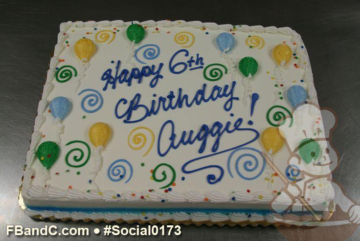 Buttercream Ballons And Swirls Birthday Cake