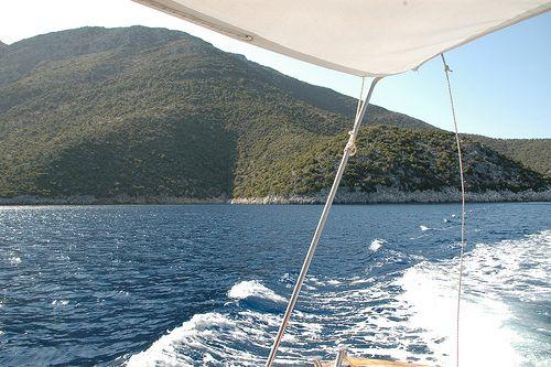 Sailing in Ithaki island