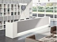 Modular Office reception desk Z2 by Quadrifoglio