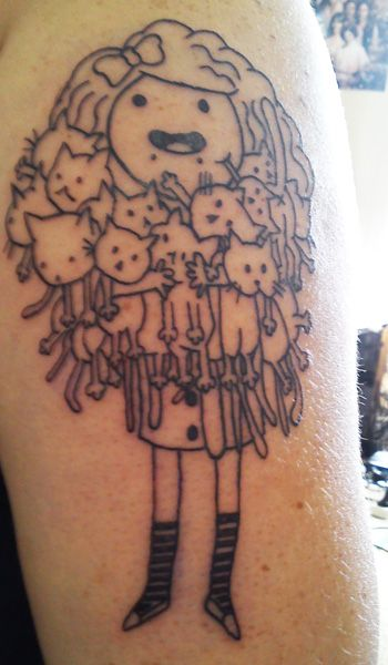 Cat Lady Tattoo. Love it.
