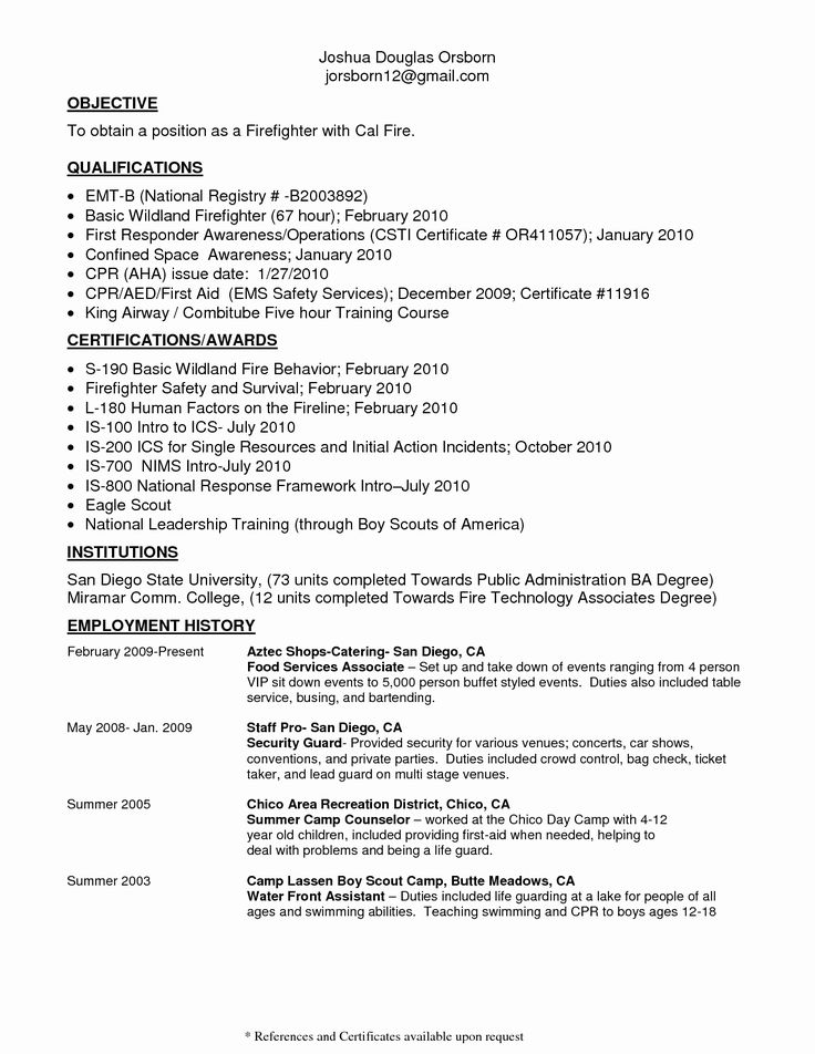 25 entry level firefighter resume in 2020