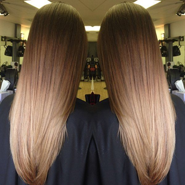 """* Formulas and HOW-TO live on behindthechair.com... search """"Brown-to-Blonde Ombre"""" ;) by Natasha Della Ratta @oshtash at @salonhalo352"""