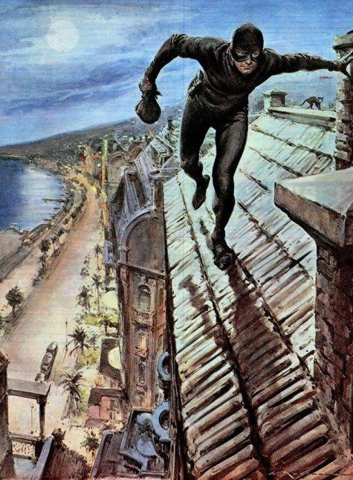 Molino,  Walter (b,1915)- Cat Thief- 'Domenica del Corriere'- Apr. 1956
