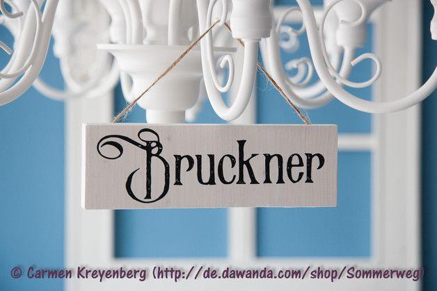 Tür- & Namensschilder - Türschild/Namensschild Holz viktorianisch Variante - ein Designerstück von Sommerweg bei DaWanda