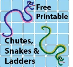 Free Chutes and Snakes and Ladders Templates