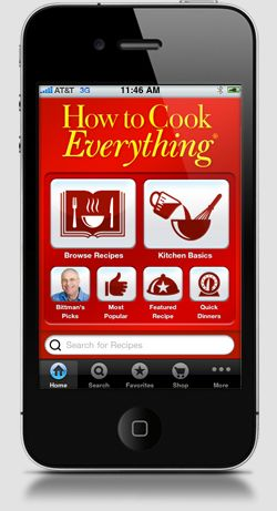 iPhone Apps : How to cook everything;grote kookboek vol met eenvoudige recepten en intersante informatie over voeding en kook technieken ( not free)