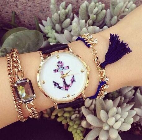 sea style watch, Stylish watches with bracelets http://www.justtrendygirls.com/stylish-watches-with-bracelets/