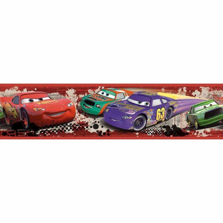 Roommates Cars Piston Cup Racing Peel And Stick Wallpaper Border Red Wallpaper Border Rmk1516bcs The Home Depot Disney Cars Cars Characters Disney Pixar Cars