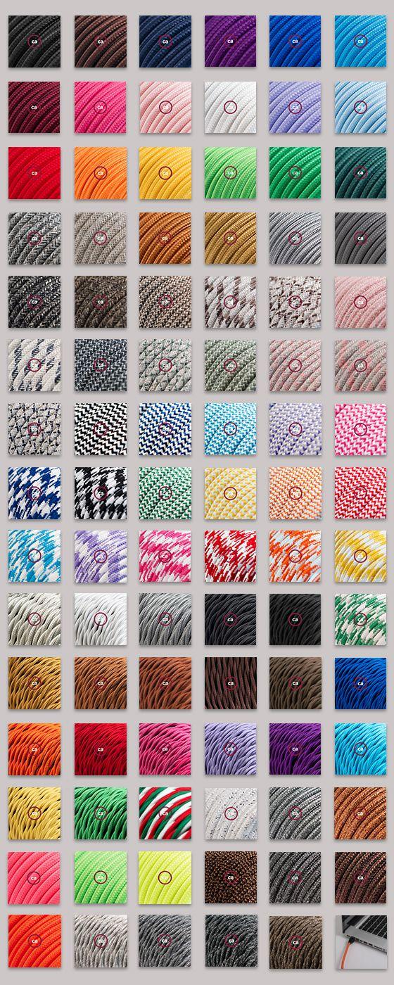https://www.youtube.com/watch?v=C_KX4mWfRUw&feature=youtu.be  Round or Twisted? Solid or Pattern? Cotton, Rayon, Linen, or Glittering? Look no further.....We have them all!!  Rotondo o Trecciato? A Tinta Unita o Multicolore? Di cotone, rayon o lino? Non ti preoccupare...li abbiamo tutti!!!  #homedecor #design #illuminazione #lighting